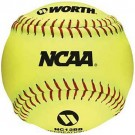 "12"" NCAA Recreational Softballs from Worth - 1 Dozen"
