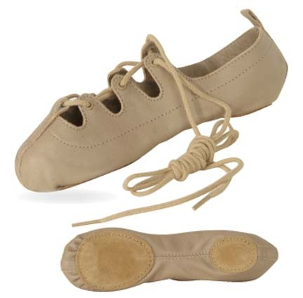 Tan Split-Sole Ghillie Shoe