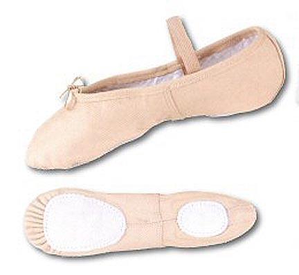 Danshuz Women's Split Sole Pink Leather Ballet Shoe