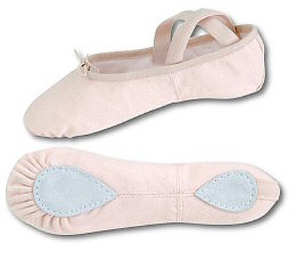 Danshuz Women's Light Pink Split Sole Canvas Ballet Shoes (Set of 2 Pairs)