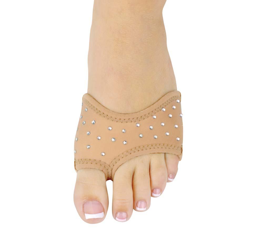 Danshuz TAN Neoprene Half Sole Dance Shoes with Rhinestones (2 Pairs) - Girls / Women