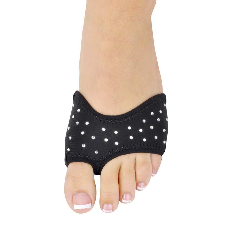 Danshuz BLACK Neoprene Half Sole Dance Shoes with Rhinestones (2 Pairs) - Girls / Women