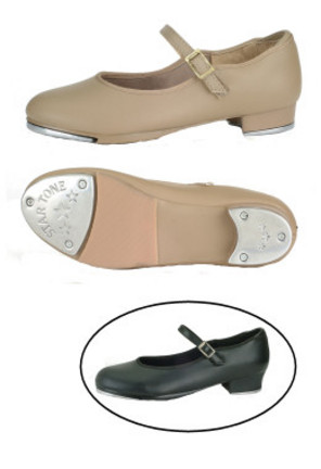 Danshuz Children's Tan Value Strap Tap Shoes