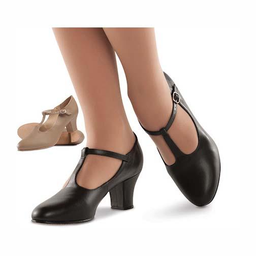 Adult Broadway T-Strap Dance Shoes (Tan) - 1 Pair