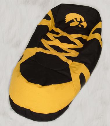 "Iowa Hawkeyes Comfy Feet ""Big Foot"" Bean Bag Boot (Slipper) Chair"