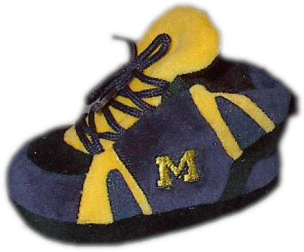 Michigan Wolverines Comfy Feet Baby / Infant Slippers