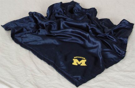 Michigan Wolverines 28 x 28 Baby Blanket