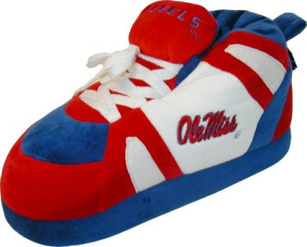 Mississippi (Ole Miss) Rebels Original Comfy Feet Slippers (Size XX-Large)