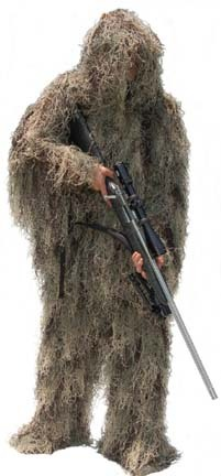 Special Ops Mossy Pattern Paintball Ghillie / Hunter Suit (Large)