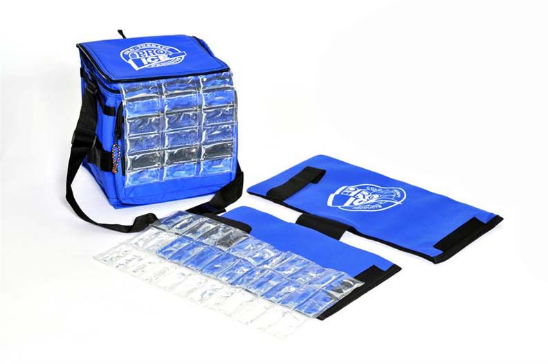 Pro Ice Adult Pitcher's Travel Kit (Includes Shoulder / Elbow Cold Therapy Wrap, Ice Pack Insert and Cooler Bag)