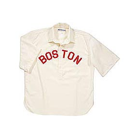 1890 Boston Beaneaters Home Throwback Baseball Jersey (Sizes 3XL - 5XL) from Ebbets Field Flannels