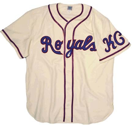 1945 Kansas City Royals Authentic Throwback Road Baseball Jersey from Ebbets Field Flannels