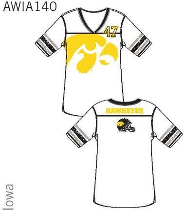 Iowa Hawkeyes Ladies' Jersey Tunic Sleep Shirt (Medium)