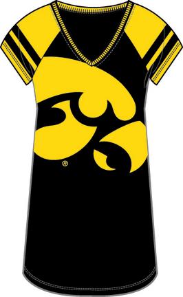 Iowa Hawkeyes Ladies' Next Generation Jersey Nightgown / Shirt (Small)