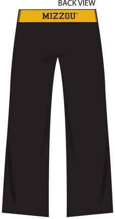 Missouri Tigers Ladies' Crop Yoga Pants (Medium)