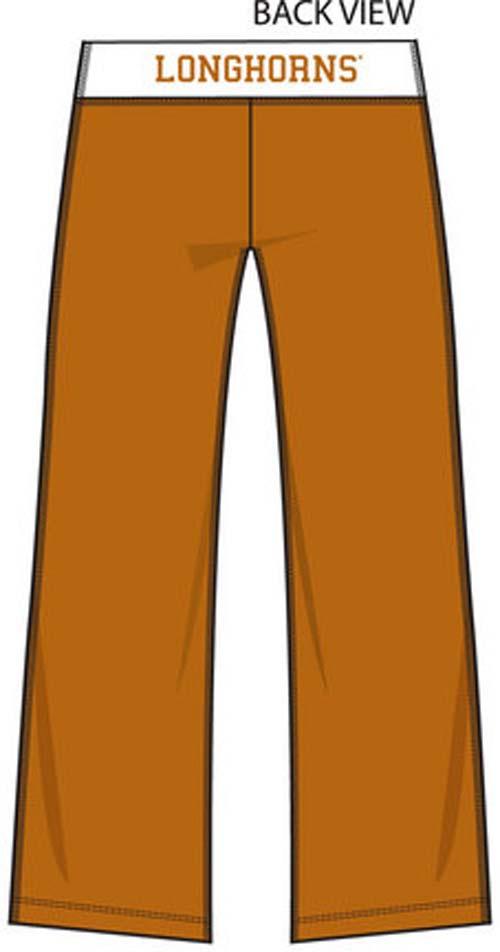 Texas Longhorns Ladies' Crop Yoga Pants (Medium)