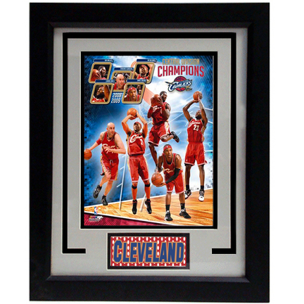 "2009 Cleveland Cavaliers Photograph in an 11"" x 14"" Deluxe Frame"