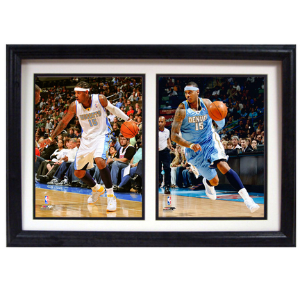 """Carmelo Anthony Deluxe Framed Dual 8"""" x 10"""" Photographs"""