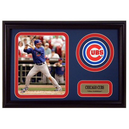 """Ryan Theriot Photograph with Team Logo Patch in a 12"""" x 18"""" Deluxe Frame"""