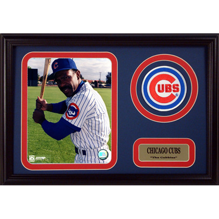 """Andre Dawson Photograph with Team Logo Patch in a 12"""" x 18"""" Deluxe Frame"""