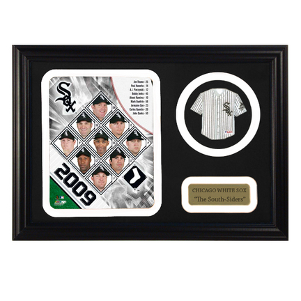 "2009 Chicago White Sox Photograph with Team Jersey Patch in a 12"" x 18"" Deluxe Frame"