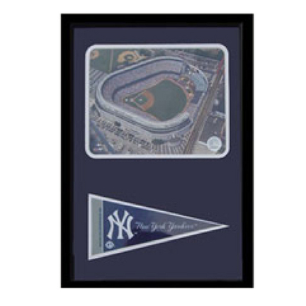 "New York Yankees Stadium Photograph with Team Pennant in a 12"" x 18"" Deluxe Frame"