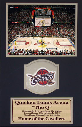 "Cleveland Cavaliers 8"" x 10"" Stadium Photograph with Commemorative Patch in a Deluxe Frame"