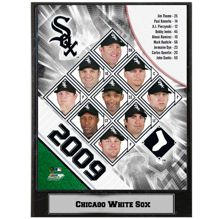 "2009 Chicago White Sox Team Photograph Nested on a 9"" x 12"" Plaque"