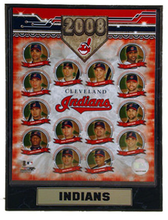 """2008 Cleveland Indians Team Photograph Nested on a 9"""" x 12"""" Plaque"""