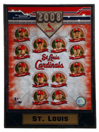 "2008 St. Louis Cardinals Team Photograph Nested on a 9"" x 12"" Plaque"