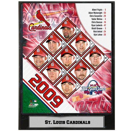 "St. Louis Cardinals 2009 Team Photograph Nested on a 9"" x 12"" Plaque"