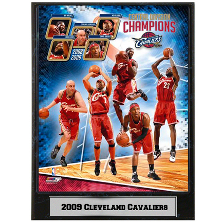 """2009 Cleveland Cavaliers Photograph Nested on a 9"""" x 12"""" Plaque"""