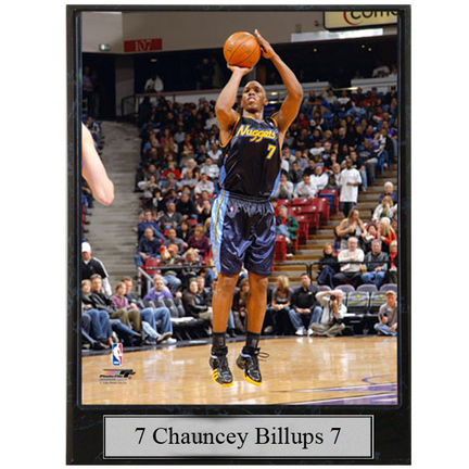 """Chauncey Billups Photograph Nested on a 9"""" x 12"""" Plaque"""