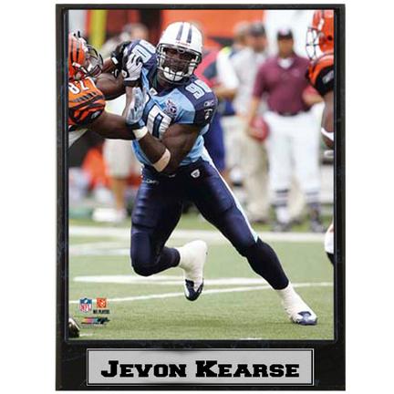 "Jevon Kearse ""vs. Cincinnati Bengals"" Photograph Nested on a 9"" x 12"" Plaque"