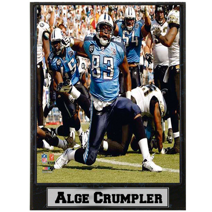 """Alge Crumpler Photograph Nested on a 9"""" x 12"""" Plaque"""