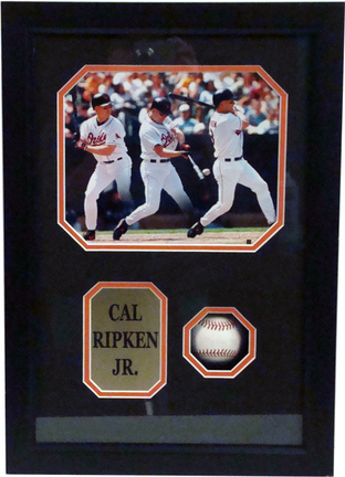 """Cal Ripken Jr. """"Composite"""" 8"""" x 10"""" Photograph and Autographed Baseball in Deluxe Framed Shadow Box"""