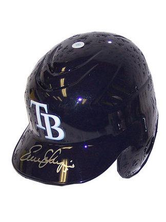 Evan Longoria Autographed Mini Batting Helmet ENC-ENC-AUTO-LONGORIAHELMET