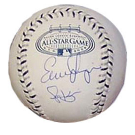 "Evan Longoria and Scott Kazmir """"All-Star"""" Autographed Baseball"" ENC-ENC-AUTO-TB"