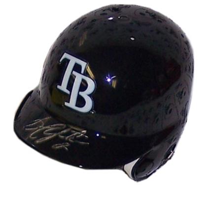 BJ Upton Autographed Mini Batting Helmet ENC-ENC-AUTO-UPTONMINIATURE