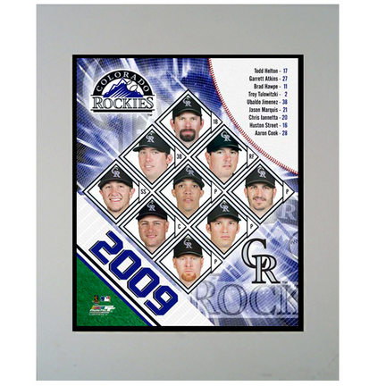 "2009 Colorado Rockies Team 11"" x 14"" Matted Photograph (Unframed)"