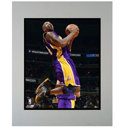 """Kobe Bryant """"Purple Jersey"""" 11"""" x 14"""" Matted Photograph (Unframed)"""