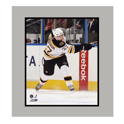 "Patrice Bergeron Boston Bruins ""White Jersey"" 11"" x 14"" Matted Photograph (Unframed)"