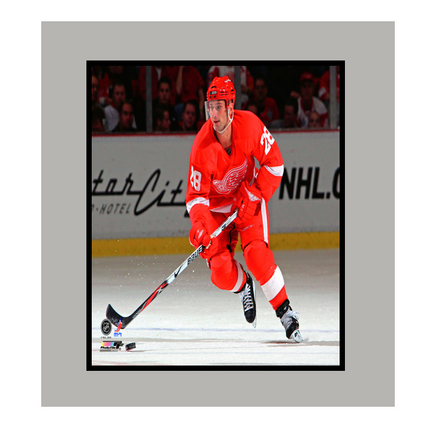"""Brian Rafalski Detroit Red Wings """"Red Jersey"""" 11"""" x 14"""" Matted Photograph (Unframed)"""