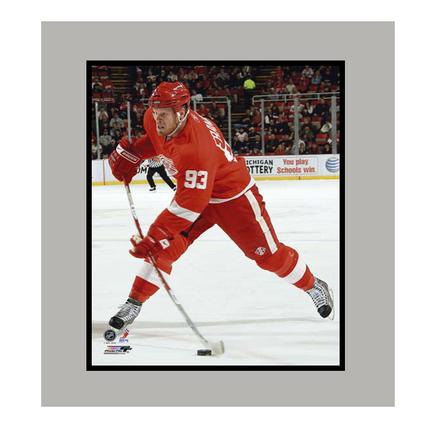 """Johan Franzen Detroit Red Wings """"Red Jersey"""" 11"""" x 14"""" Matted Photograph (Unframed)"""