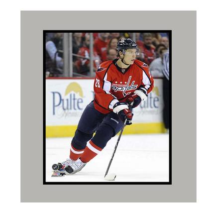 """Alexander Semin Washington Capitals """"Red Jersey"""" 11"""" x 14"""" Matted Photograph (Unframed)"""