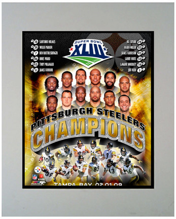 "Pittsburgh Steelers """"Champions"""" 11"""" x 14"""" Matted Photograph (Unframed)"" ENC-M2-PITTSBURGH-CHAMPIONS-1"