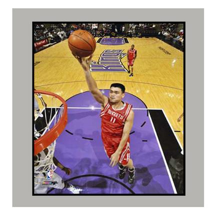 "Yao Ming ""vs. Sacramento"" 11"" x 14"" Matted Photograph (Unframed)"