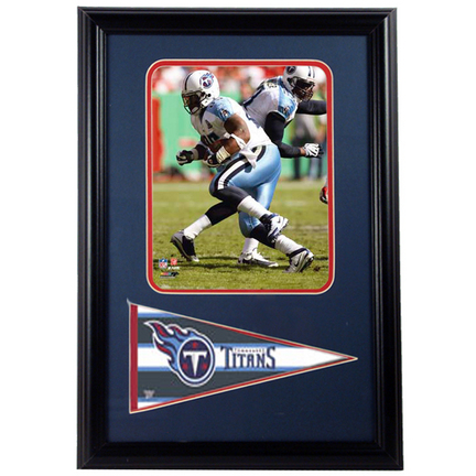 "LenDale White ""White Jersey"" Photograph with Team Pennant in a 12"" x 18"" Deluxe Frame"