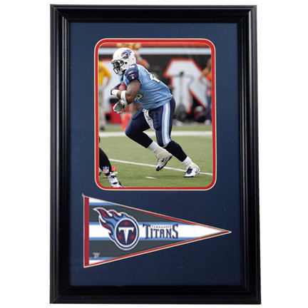 """LenDale White Photograph with Team Pennant in a 12"""" x 18"""" Deluxe Frame"""