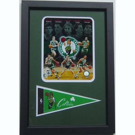 "Boston Celtics ""Celtic Greats Composite"" Photograph with Team Pennant in a 12"" x 18"" Deluxe Frame"